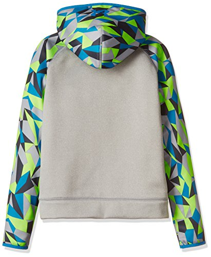 Under Armour Boys' Storm Armour Fleece Big Logo Printed Hoodie,True Gray Heather (025)/Cruise Blue, Youth X-Small by Under Armour (Image #2)