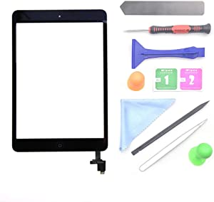 First chooes Black iPad Mini 1 or 2 Touch Screen Digitizer Complete Assembly with IC Chip & Home Button Replacement with Tool kit Chips