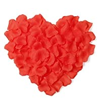 BOSHENG 1000pcs Silk Rose Petals Artificial Flower Wedding Party Vase Decor Bridal Shower Favor Centerpieces ConfettiRed