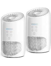 HEPA Air Purifiers for Home Bedroom, Smoke Air Cleaner with Fragrance Sponge, Lock Set, 99.9% Effective, Ultra Quiet HEPA Air Purifiers for Dust, Odor, Pet Dander