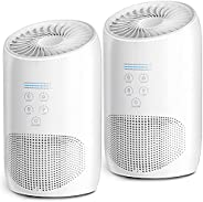 HEPA Air Purifiers for Home Bedroom, Smoke Air Cleaner with Fragrance Sponge, Lock Set, 99.9% Effective, Ultra