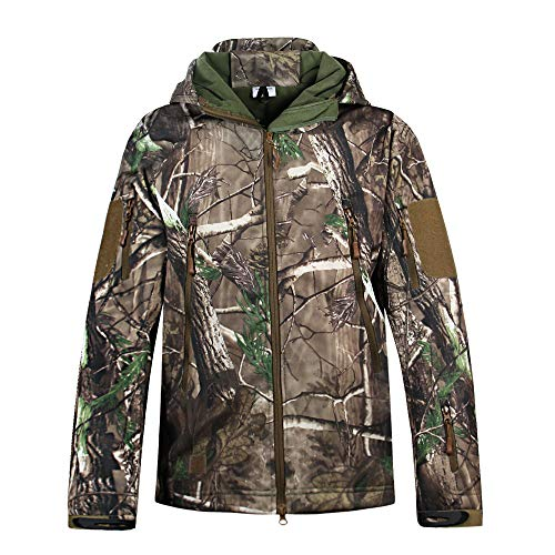 Hunting Jackets Waterproof Hunting Camouflage Hoodie for Unisex Military Camo and Tactical camouflage (XXL, Jacket)