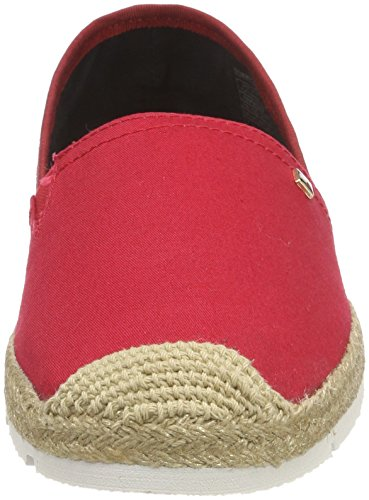 Tommy Hilfiger Damen Basic Sporty Flat Espadrille Rot (Tango Red 611)