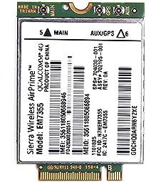 Sierra Gobi5000 EM7355 LTE/EVDO/HSPA+ 42Mbps NGFF Card 4G Module for HP SPS 704030-001