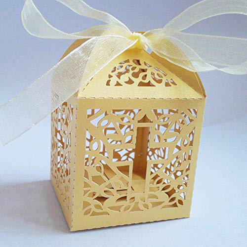 (Xiaogongju 50Pc Cross Candy Boxes Angel Gift Box for Baby Shower Baptism Birthday First Communion Christening Party Favor Bag 5X5x8cm Gold Cross 5x5x8cm)