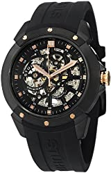 Stuhrling Original Men's 539.33561 Legacy Automatic Skeleton Black Rubber Watch