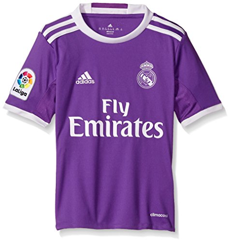 Adidas SOCCER Real Madrid Youth jersey, Large, Purple/White