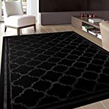Rug Decor Trellis Contemporary Modern Design Area Rug, 2′ by 3′, Black Review