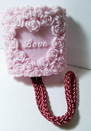 Roses Soap on a Rope - Fresh Cut Rose Scent Shea Butter Goat Milk Soap by De'esse Boutique