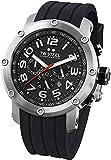 TW Steel TW121 - Reloj cronógrafo de cuarzo unisex con correa de caucho, color negro