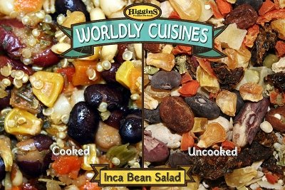Higgins Pet Food Wordly Cuisines Inca Bean Salad 13 Oz Cook, Cool & Serve Food by Higgins Pet Food