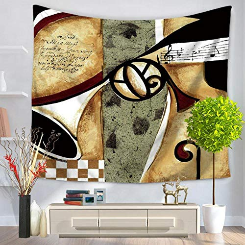 hhyyoo Indian Violin Tapestry Wall Hanging Blanket Personality Tablecloth Beach Towel Sheets 200X150Cm