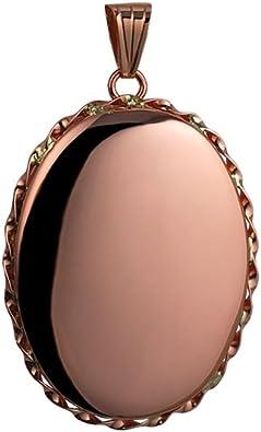 9ct Rose Gold Oval Plain Locket