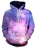UNIFACO Teen Boys Galaxy Hoodie Drawstring Pockets Hoodie Sweatshirts Plus Velvet Medium