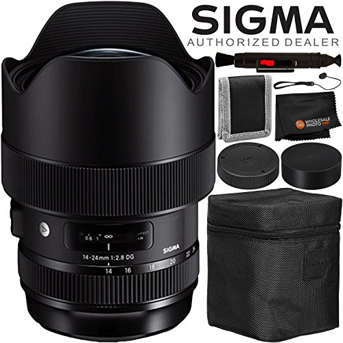 Sigma 14-24mm f/2.8 DG HSM Art Lens for Nikon F – 4PC Accessory Bundle