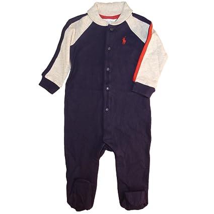 Traje de Ralph Lauren de los bebés mameluco Rugby colour azul oscuro dunkelblau grau rot Talla