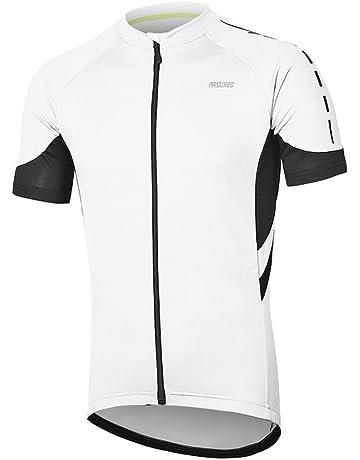 fa9fe7c74b4 ARSUXEO Men s Short Sleeves Cycling Jersey Bicycle MTB Bike Shirt 636