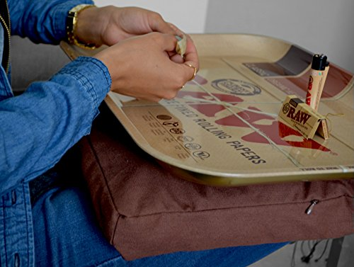 RAW Huge Beanbag XXL Rolling Tray with Rolling Paper Depot XL Doobtube by RAW, Rolling Paper Depot (Image #1)