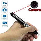 HD 1080p Hidden Camera Recorder Pen, 16GB Memory Card and 5 Ink Refill Cartridges. Ideal Spy Pen Kit (Chrome Accent)