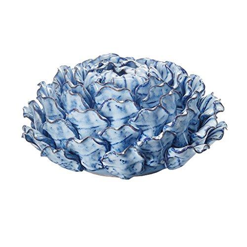 Vintage Park Urn Planter - Azura Turquoise Vase Home Decor , Antique Decorative Accessories Ceramic Succulent Bowl SmallÊ