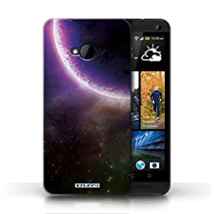 KOBALT? Protective Hard Back Phone Case / Cover for HTC One/1 M7 | Purple Eclipse Design | Space/Cosmos Collection
