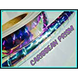"NEW! 30 ft. roll of 1"" Caribbean Prism Reflective Hula Hoop Tape"