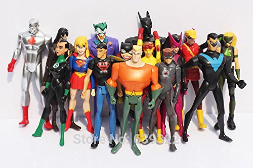 15pcs/set Marvel Super Hero Superman Green Lantern Batman Wonder Women Action Figures PVC Toys 10cm