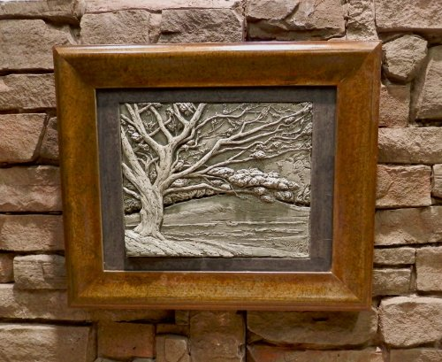 Indoor & Outdoor Decor, Stone Picture of Spring Dogwood, Outdoor Living Decor, Patio Decoration, Fine Art Stone Relief Plaque, Hand Carved ()