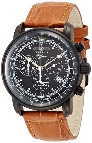 ZEPPELIN watch German Military LSeries Black Dial Stainless Steel Case Chronograph Date 76,781 Men's [regular imported goods]