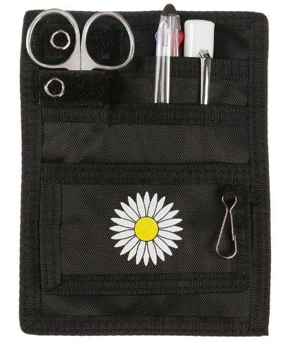 Prestige Medical Nurse 5-Pocket Organizer Kit - Black Daisy by Prestige Medical