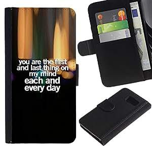 All Phone Most Case / Oferta Especial Cáscara Funda de cuero Monedero Cubierta de proteccion Caso / Wallet Case for Sony Xperia Z3 Compact // Love Honey texto cita novia
