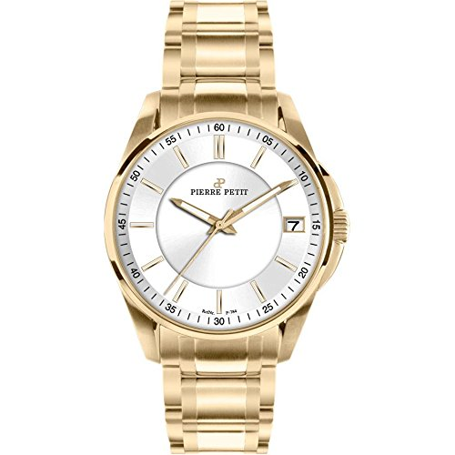 Pierre Petit Women's P-784F Serie Le Mans Yellow-Gold PVD Bracelet Date Watch