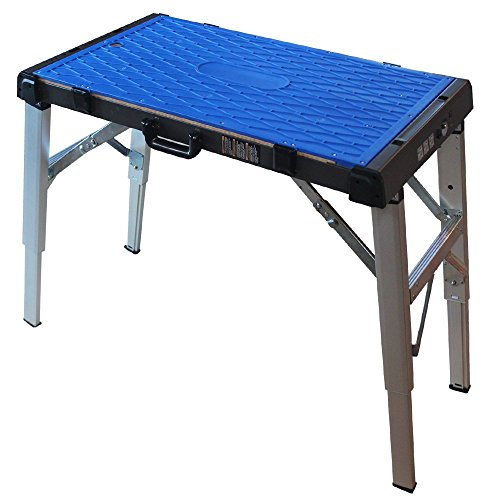 Midwest Tool and Cutlery Midwest Portable Work Surface - Adjustable Height Table with Interchangeable Work Surfaces & Powered Outlets - MWT-PWS01 from Midwest Tool and Cutlery