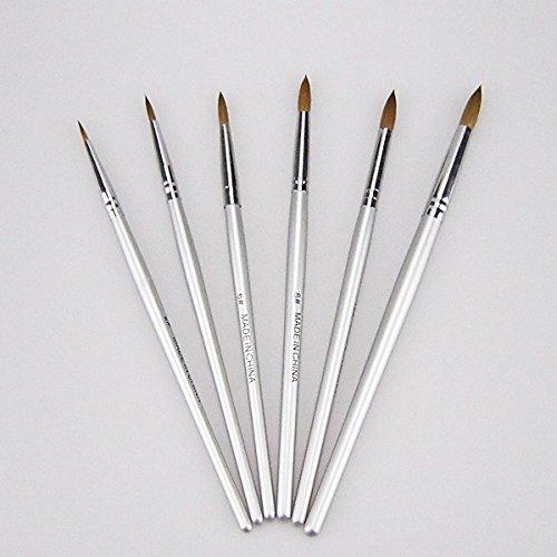 6pcs New Porcelain Ceramic Ermine Brush Pen Set