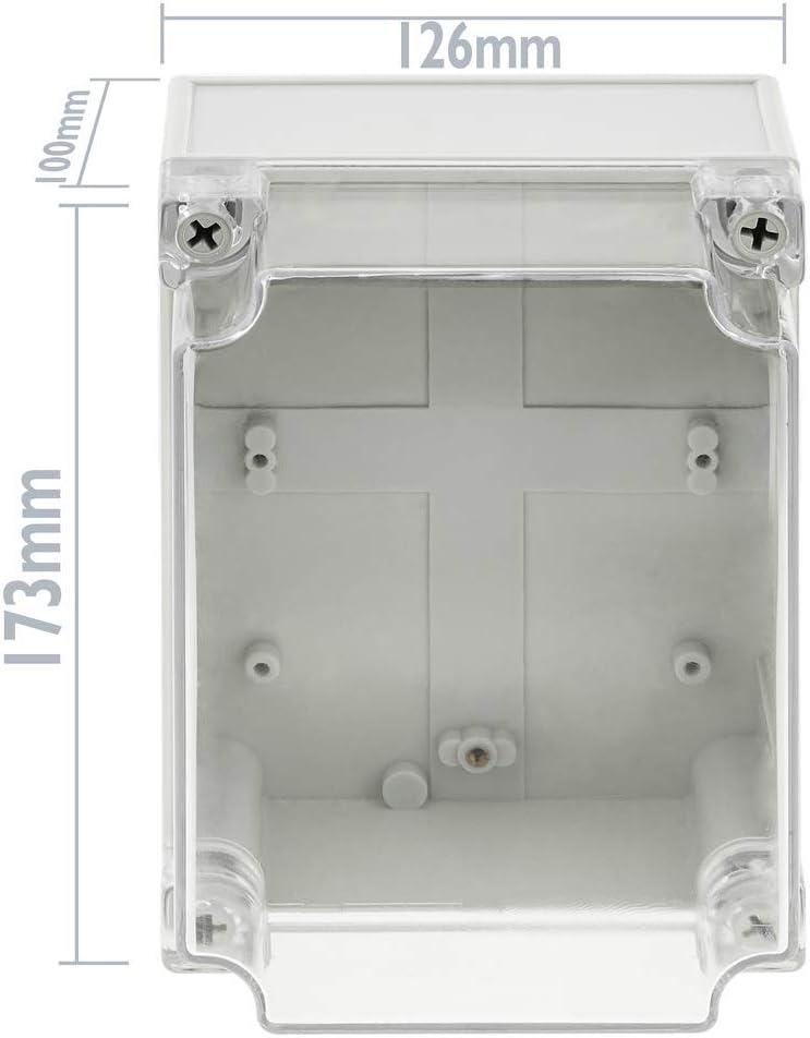 BeMatik Bo/îte de jonction et d/érivation /électrique en Plastique ABS /étanche IP65 Transparent 173x126x100mm
