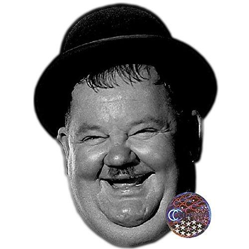 Oliver Hardy Celebrity Mask, Card Face and Fancy Dress Mask