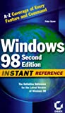 Windows 98 Instant Reference, Peter Dyson, 0782126162