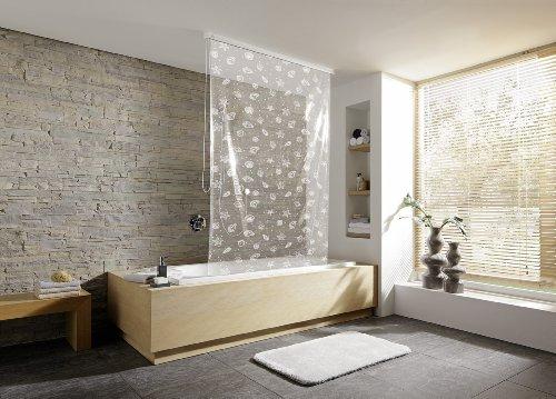 Kleine Wolke, Tenda a rullo per doccia, Bianco (Weiß), 128 x 240 cm ...