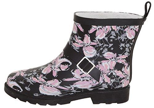 Sporty Ladies Black Short New Pink York Capelli Lined Rainboots npBqAvxI