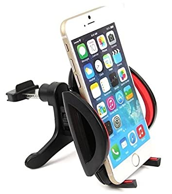 Liger® DualGrip Windshield or Dashboard Universal Car Mount Holder for iPhone 6/5s/5c/4s, Galaxy S5/S4/S3/S2, HTC One and Other Smartphones Up To 4in Wide by Liger