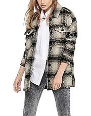 ONLY Onlallison Check Wool Shacket Cc Otw dames Overhemd