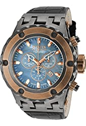 Invicta Mens Reserve Specialty Subaqua Swiss Made Quartz Chronograph Leather Strap Distressed Watch