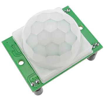 BeMatik - Sensor Detector de Movimiento PIR piroeléctrico Infrarrojos HC-SR501