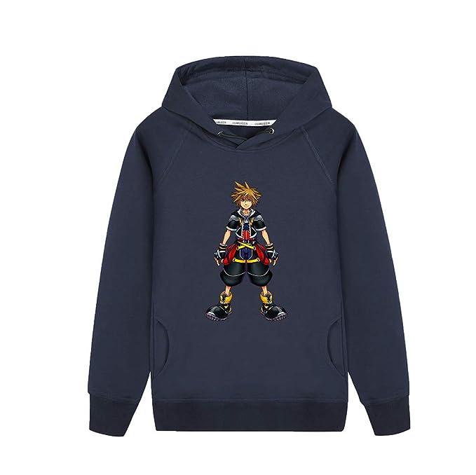 Unisex Kingdom Hearts Sudadera con Estampado de Dibujos Animados Sudadera Simple Sudaderas con Capucha Moda Sudadera Escudo de Manga Larga para Hombres y ...
