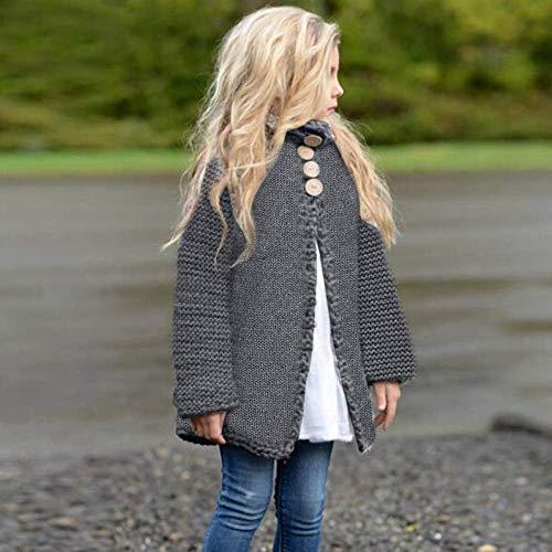 73dac8d24378 Amazon.com  Noubeau Baby Little Girls Cute Autumn Winter Button ...