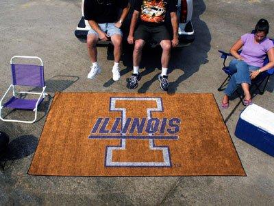 Fan Mats University of Illinois Rectangular: 5 ft. x 8 ft. Tailgater (Illinois University Tailgate Mat)