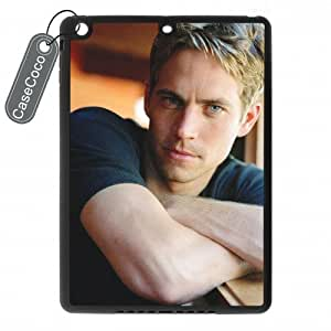 CASECOCO Paul Walker iPad Air Case-- Hard White Back / Black Rubber Sides Case for iPad Air by ruishername