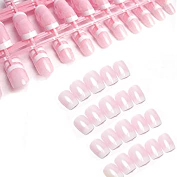 Fingernägel Zum Aufkleben 240 Stück Französisch Falsche Nägel Künstliche Nägel Kurz Künstliche Nägel Set Für Diy Nagelkunst