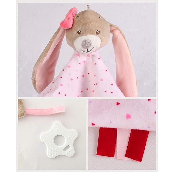 YeahiBaby Bebé recién Nacido Saliva Toalla Caricatura Felpa bebé Confort Toalla Juguetes calmantes (Conejo): Amazon.es: Juguetes y juegos