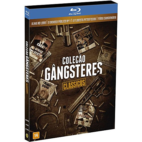 Blu-ray Colecao Gangsteres Clássicos [ Brazilian Edition ] [ 4-Disc Set Gangsters Collection Classics: Little Caesar / The Public Enemy / The Petrified Forest / White Heat ]